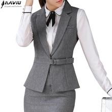 Весенне-летний женский жилет, костюмы с юбкой, комплект одежды для работы, деловой формальный тонкий жилет, офисный женский костюм размера плюс