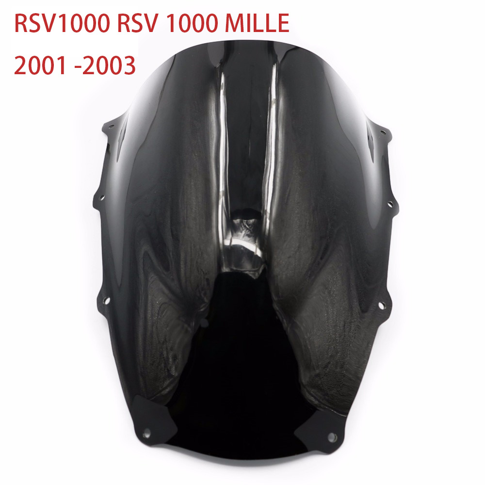 Dark Smoke Racing Windscreen Windshield For APRILIA RSV1000 RSV 1000 MILLE 2001 2002 2003 01-03 Wind Deflectors Shield Screen