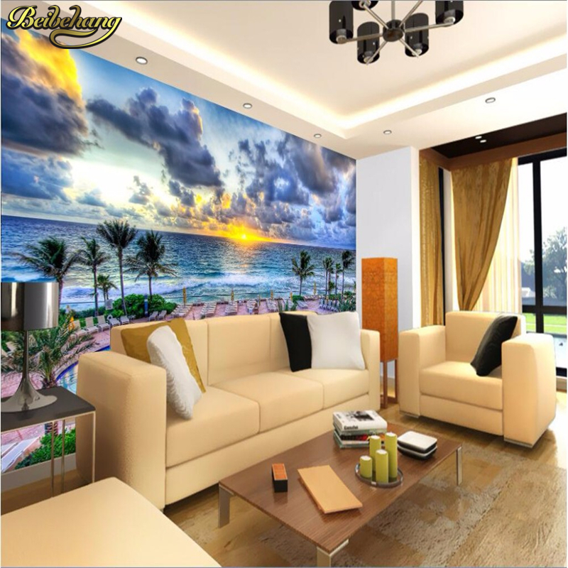 Painting Supplies & Wall Treatments Home Improvement Beibehang Wall Paper 3d Mural Decor Photo Backdrop Photography Summer Swimming Pool Dusk Living Room Hotel Wall Painting Murals Durable In Use