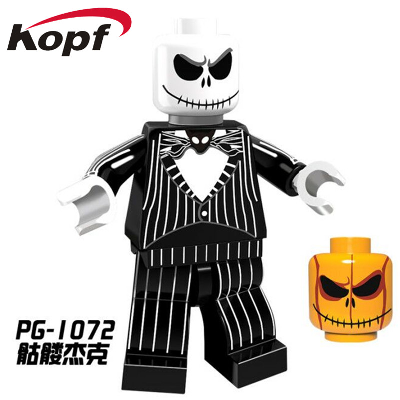 Single Sale PG1072 Halloween The Horror Theme Movie Jack Skellington Jeepers Creepers Ring Building Blocks Children Gift Toys plastic standing human skeleton life size for horror hunted house halloween decoration