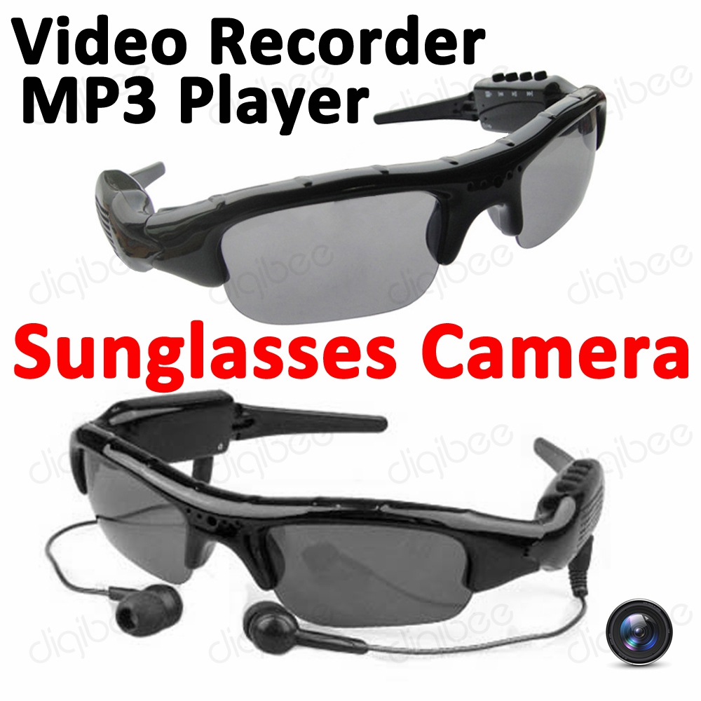bc43300f10d DigiBee New Cool Fashion Smart Glasses Sunglasses with Camera MP3 Music  Player Digital Video Audio Recorder Mini DV Camcorder