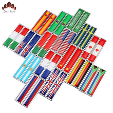 Car flag styling logo United States Kingdom Russia France Sweden Flag Body paste Personality Trend Metal Sticker Decals