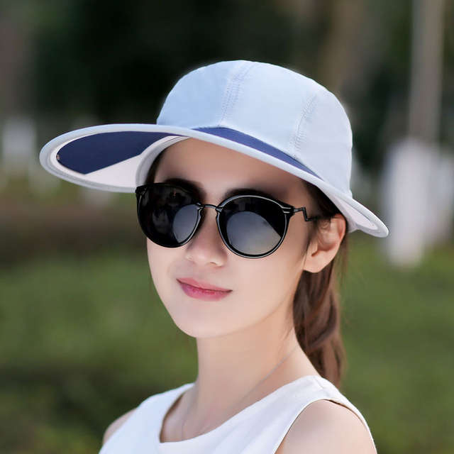 4aa8598fede SORRYNAM Summer Hat Women UV Protection Wide Brim Baseball Cap Mesh Ladies  Hat Tennis Fishing Beach