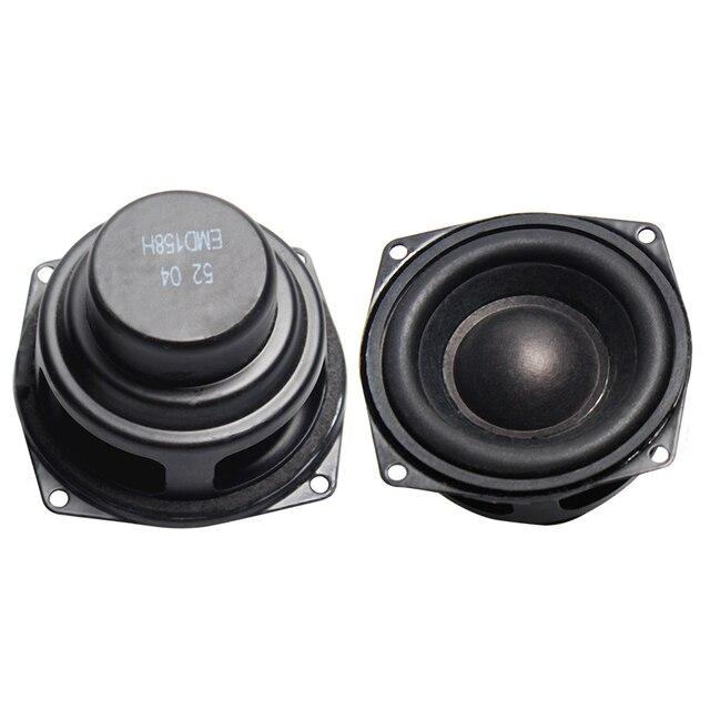 2 pièces 2 POUCES 52 MM Haut parleurs de Gamme Complète de 4 Ohm 10 W Passionné bricolage Plat Arc En Caoutchouc Bord Haut Parleur bricolage HIFI Haut parleurs Bluetooth