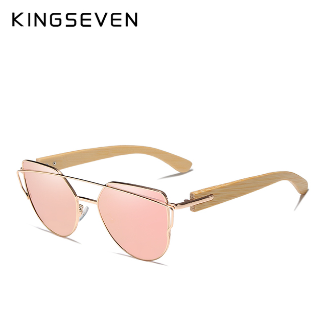 KINGSEVEN 2019 Handmade Wood Sunglasses Men Bamboo Sunglass Women Brand Design Original Wood Glasses Oculos de sol masculino Women's Glasses