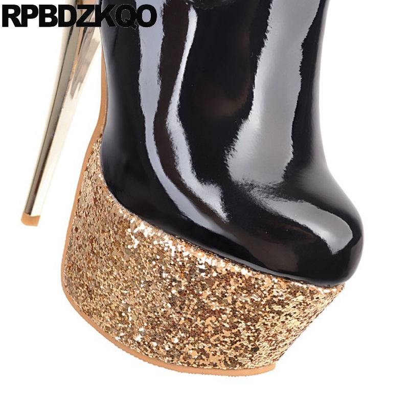 Over The Knee Patent Leather Pole Dancing 15cm Platform Big Size Stiletto  Glitter Sequin Shoes Metal Heel Boots 12 44 Dance High-in Over-the-Knee  Boots from ... 1193f9b76d9e