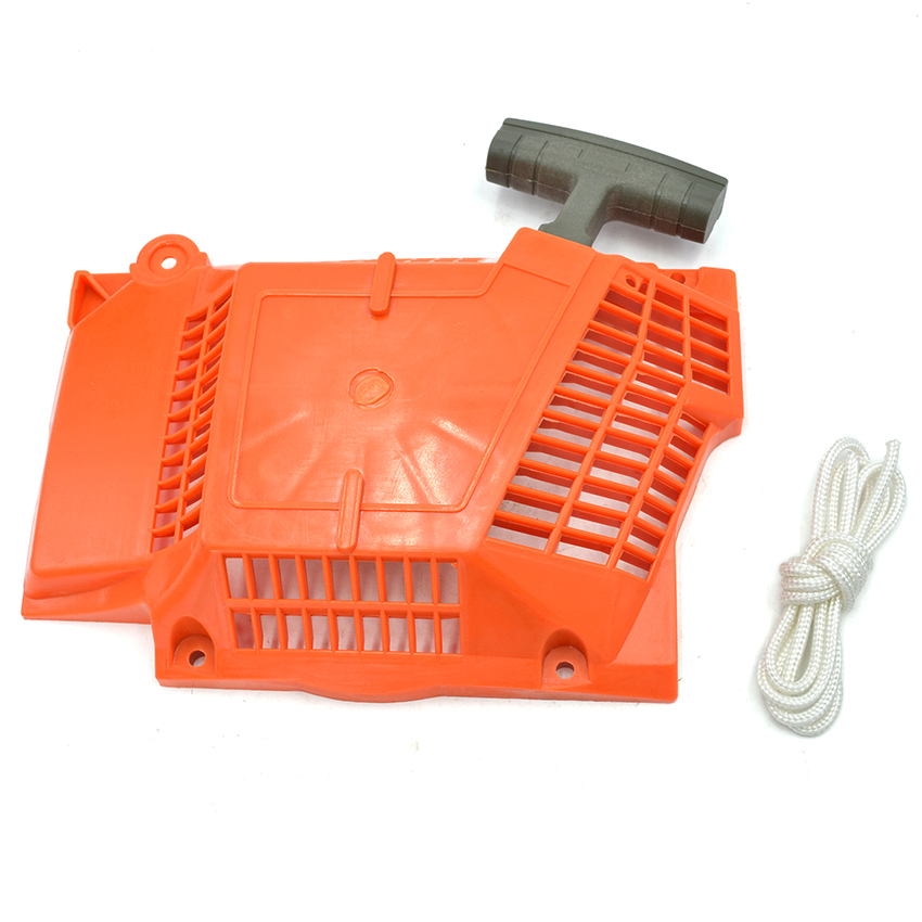 Plastic Chainsaw Recoil Starter Assembly Rope For Husqvarna 362 365 371 372 372XP Chainsaw 503 62 82-02 цены онлайн