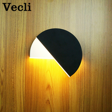 Modern rotary bedroom living room aisle hotel corridor wall lamp round Led light bra bedside lampara 10w sconce
