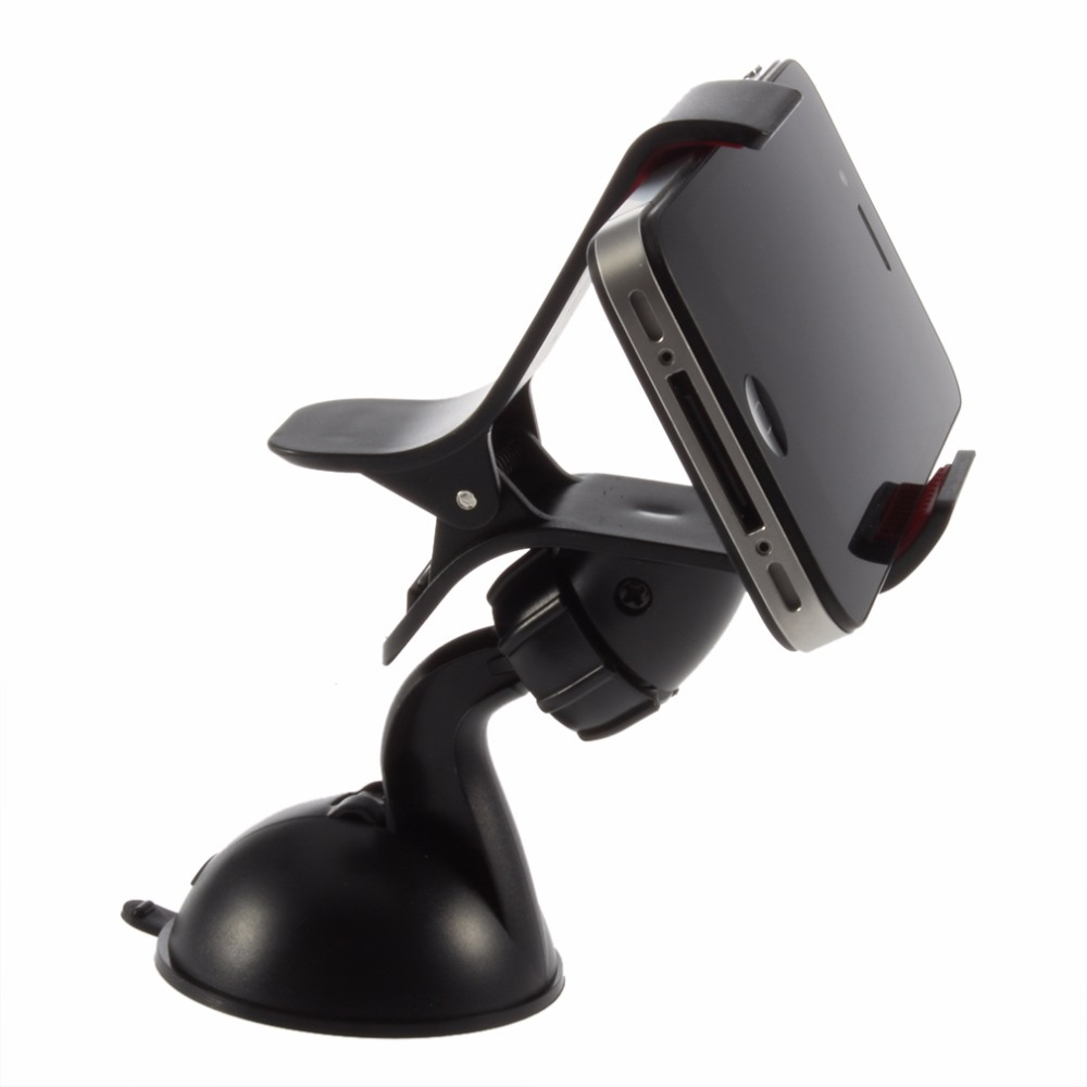 Novel 360degree spin Car Windshield Mount cell mobile phone Holder Bracket stands for iPhone5 4S for samsung Smartphone GPS