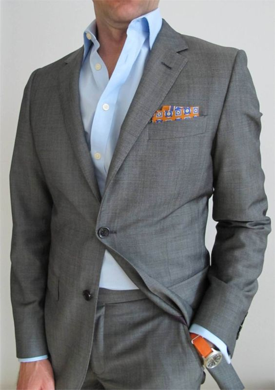 Vintage Grey Mens Suits Classic Style Men Slim Fit Tuxedos Notch Lapel Groomsmen Wedding Blazer For Men Tuxedos(jacket+pant)