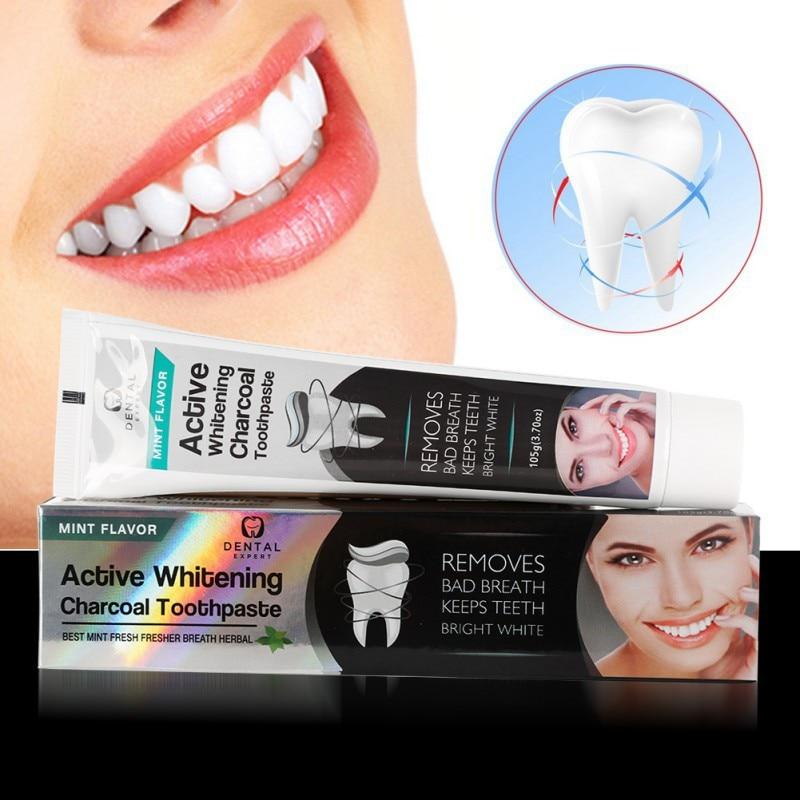 Carvao De Bambu Creme Dental Clareamento Dental Preto Carvao Creme