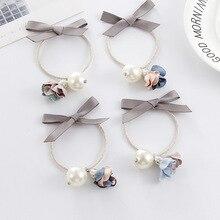 Korean Hair Ring Bow Elastic Rubber Bands elastic hair bands headwear ring rope Hair Accessory Women Girl PH61