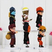 6Pcs Anime Naruto Action Figure Collectible
