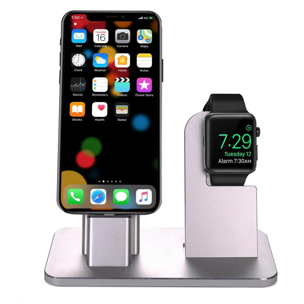 Aluminum Alloy Charging Base Desk Charger Station For IPhone 6/7/8 And For apple watch charger standAluminum Alloy Charging Base Desk Charger Station For IPhone 6/7/8 And For apple watch charger stand