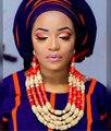 Fantástica Boda Nigeriano Beads Africanos Conjunto de Joyas de Coral CNR705 Dubai Mujeres Declaración Nupcial Collar de Coral Envío Libre