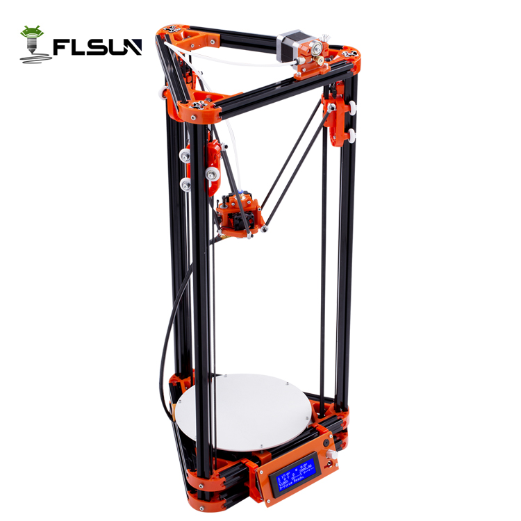 Shipping From Russian Delta Auto Leveling 3D Printer Large Printing Area 180 180 315mm With Heated