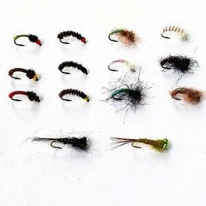 Image 3 - KKWEZVA 50 יחידות שילוב נימפה טוס דיג זבובים טוס חרקים שונה סגנון סלמון פורל לטוס דיג פתיונות קרס דיג
