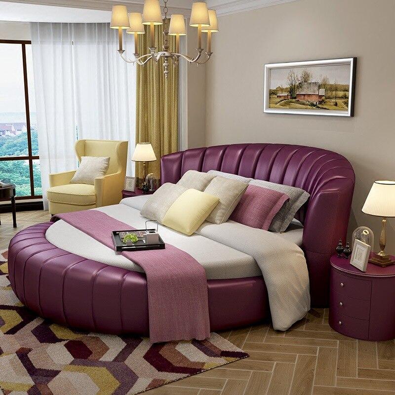 200 Cm X 200 Cm Moderne Echtes Leder Bett Weiß Rosa Lila Farbe Schlafzimmer  Möbel In 200 Cm X 200 Cm Moderne Echtes Leder Bett Weiß Rosa Lila Farbe ...