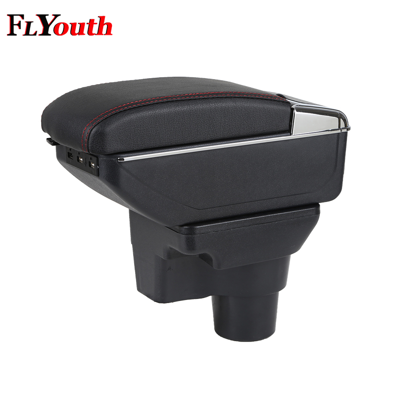 For KIA Rio 4 Rio X line 2017 2018 Car Armrest Box Usb Charging Interface Central Store Content Box Cup Holder Ashtray Styling