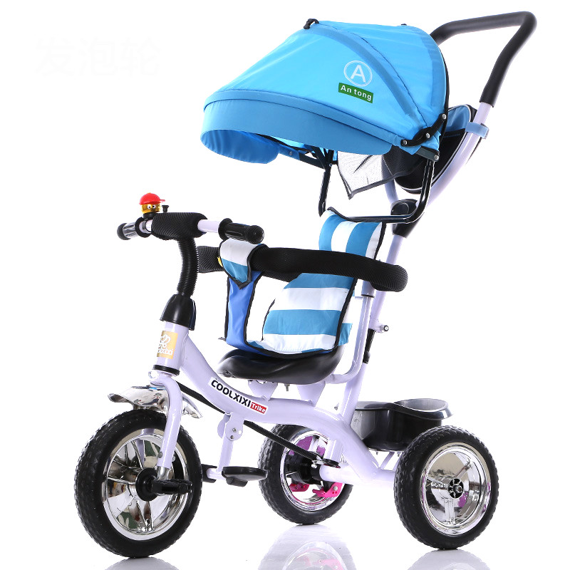 Hot selling portable children bicycle multifunction baby stroller umbrella cart pushcart for 6 months-6 years old children цена
