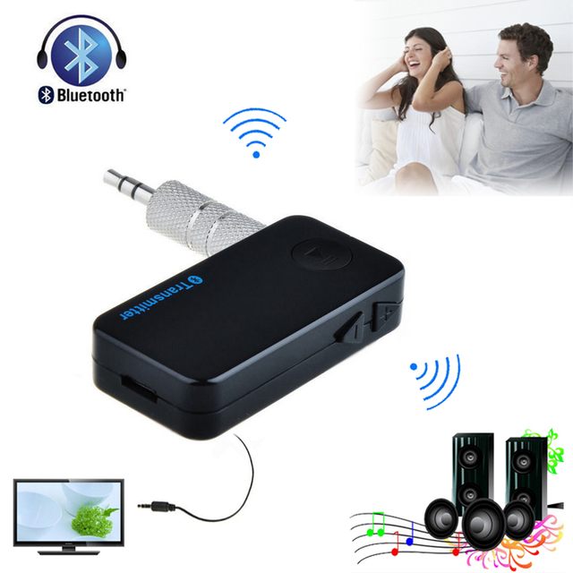 Universal Bluetooth Stereo Audio 3.5mm AUX A2DP Music Transmitter Adapter for TV Desktop Laptop DVD CD MP3 Player