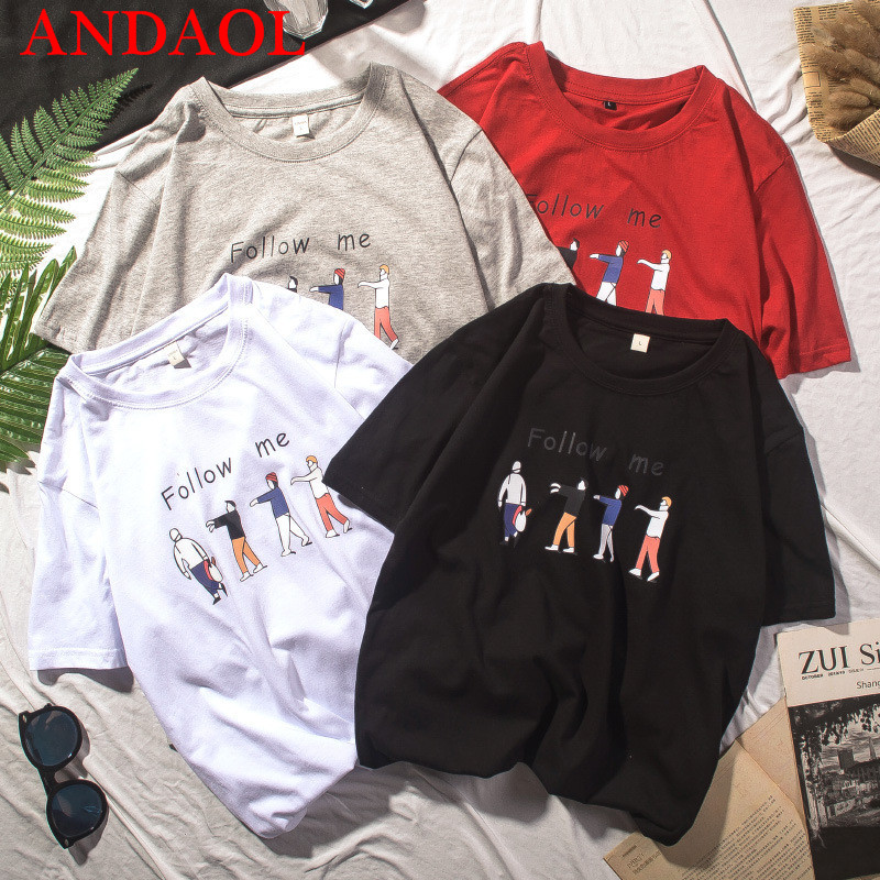 ANDAOL New Men 39 s Casual T Shirts Top Quality Cartoon Anime Print O Neck Cotton Loose T Shirt Fashion Creative Campus Tee shirt in T Shirts from Men 39 s Clothing