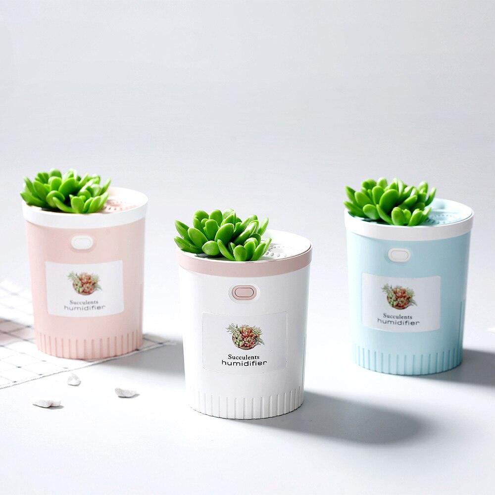 Usb plantable umidificador de ar ultra-sônico criativo escritório casa estilo bonsai névoa maker mini difusor aroma óleo essencial para carro
