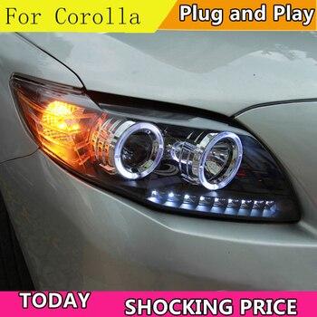 Car Styling Head Lamp case For Toyota Corolla Altis Headlights 2008-2010 LED Headlight DRL Bi-Xenon Lens Xenon Low Beam