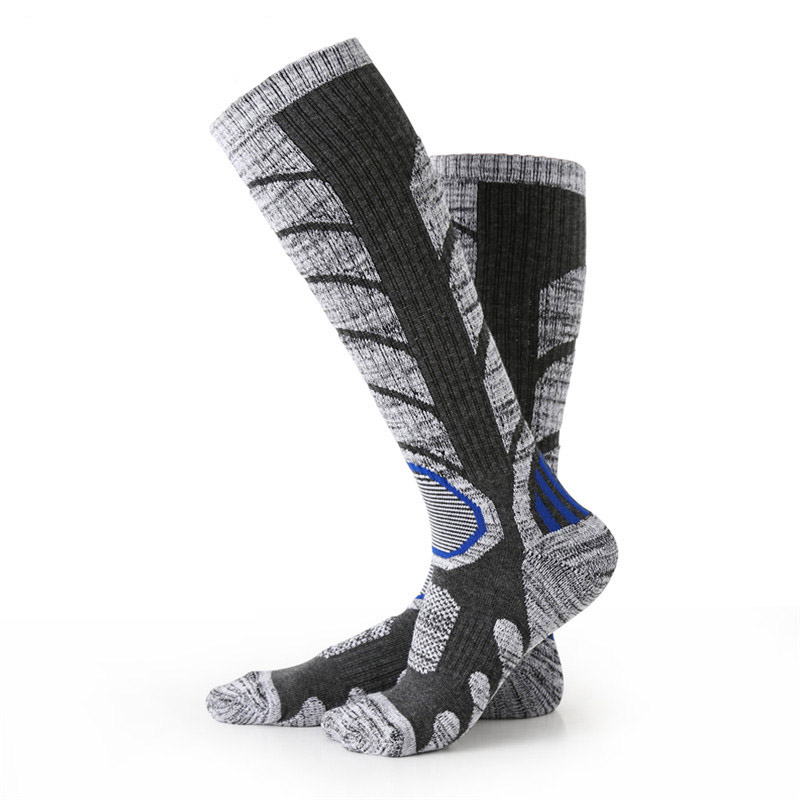 Hi Quality Winter Thermal Ski Socks Men Women Snowboard Cycling Socks Super Warm Thick Knee High Socks Leg Warmers Sport Socks