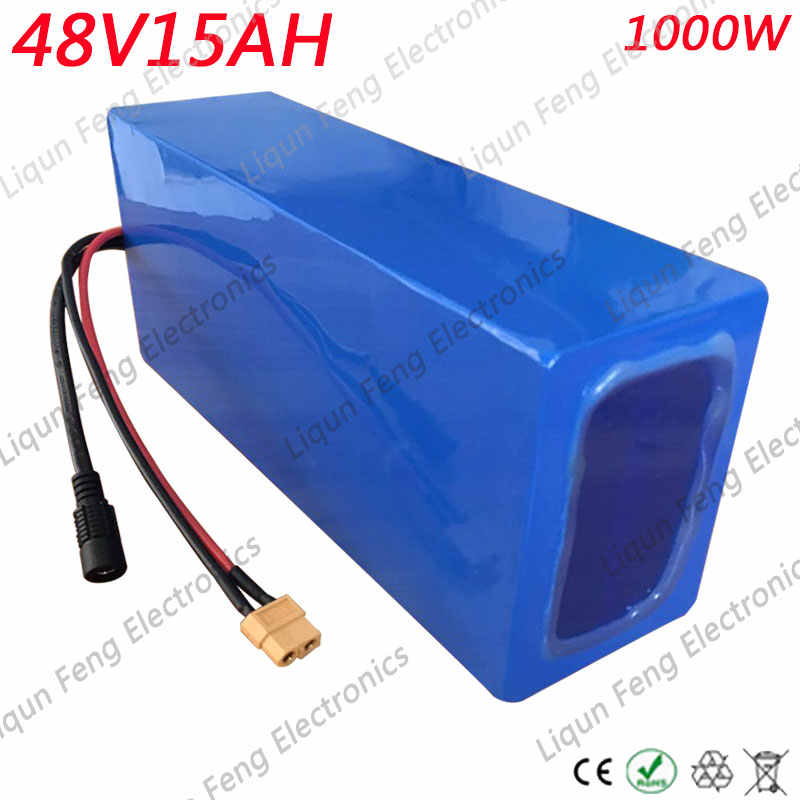 48V 15AH 1000W Electric Bicycle li-ion Battery use AA 18650 cell 48V 15AH E-bike Lithium ion Battery 48V With 30A BMS 2A Charger