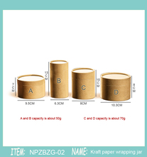 20 pz 50g 30g 80g100gTea Tubo di Disegno Tubo di Imballaggio Confezionamento Caffè Kraft Tubo di Carta di Imballaggio Allingrosso pittura a Olio cilindro