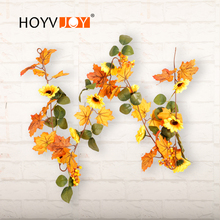 HOYVJOY2018 New Vitality Series Sunflower Rattan for Christmas Festival Wedding Decor Summer/Autumn Season Flora