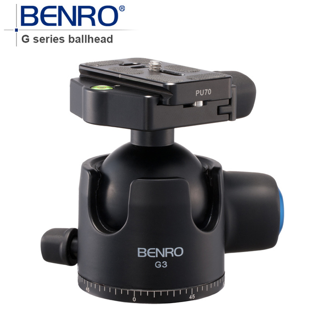 BENRO G Series Low-Porfile BallHead Professional Ball heads G3 Aluminum Ball Head For Tripod Pu70 Quick Release Free Shipping