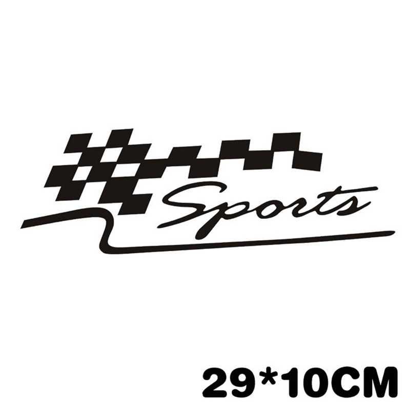 1 pc Cá Tính TỰ LÀM Racing và Xe Thể Thao Dán Tự Động Xe Máy Phản Vinyl Decal Sticker Car Tạo Kiểu Tóc