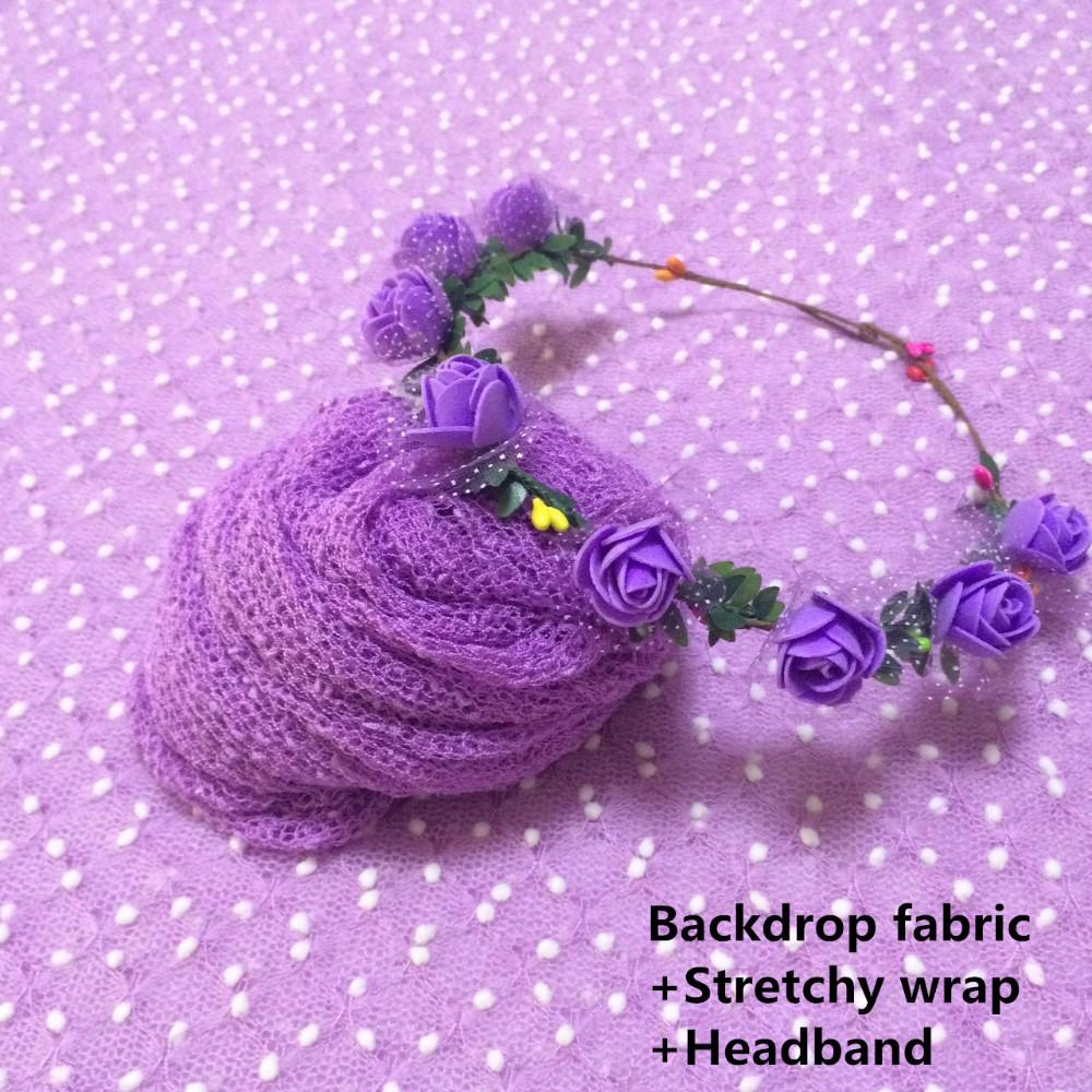 Backdrop fabric+Stretchy wrap+Headband