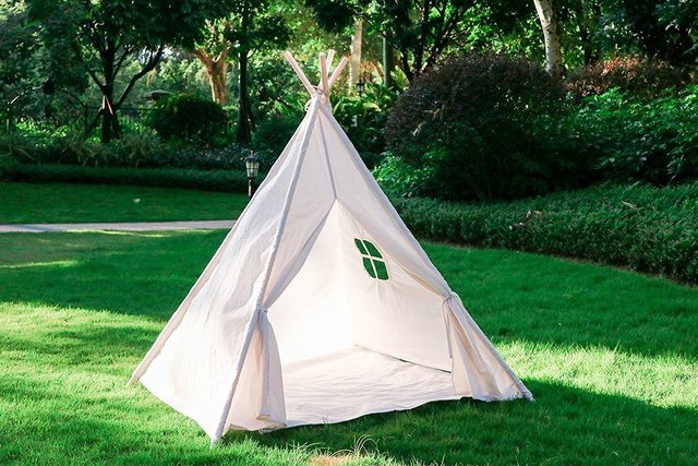 Dalosdream Durable Portable Indian Playhouse Toy Teepee Play Tent for Kids Toddlers Canvas Teepee & Dalosdream Durable Portable Indian Playhouse Toy Teepee Play Tent ...