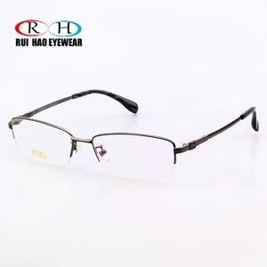 Image 3 - RUI HAO EYEWEAR Eyeglasses Frame Titanium Alloy Glasses Frame Men High elasticity Eyeglasses Frame Memory Spectacle 33018