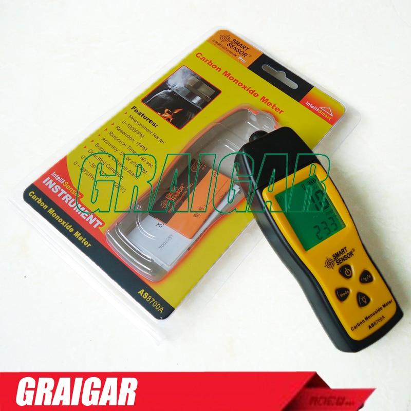 Smart Sensor AS8700A carbon monoxide analyzer gas detector portable CO gas leak detector alarm