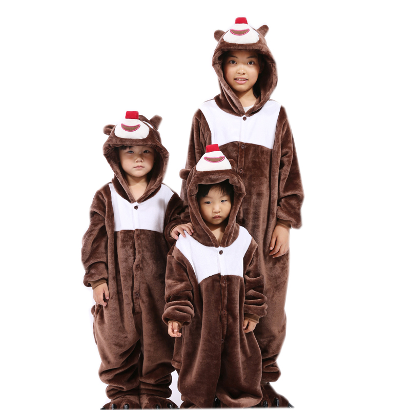 Centuryestar Pijamas De Animales De Una Sola Pieza One-piece Kawaii Animal Pajamas Onesie Kids Brown Bear For Girls Boys Sleep