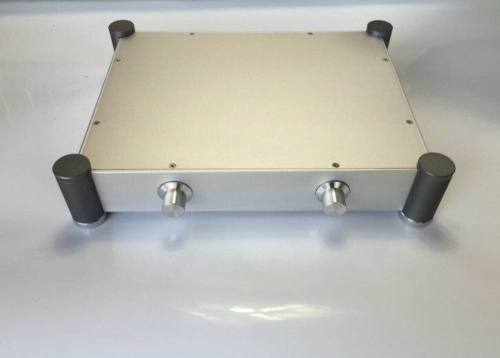 QUEENWAY  4307 round tube aluminum Chassis Case Box Front stage chassis 430mm*84mm*342mm 430*84*342mm queenway hifi class pass xa 30 5 hi end full aluminum amplifier chassis case box 430mm 430mm 170mm 430 430 170mm