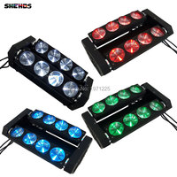 2pcs Lot 4 IN1 Double Row LED RGBW Beam Light 8 Led Spider Beam Bar Moving