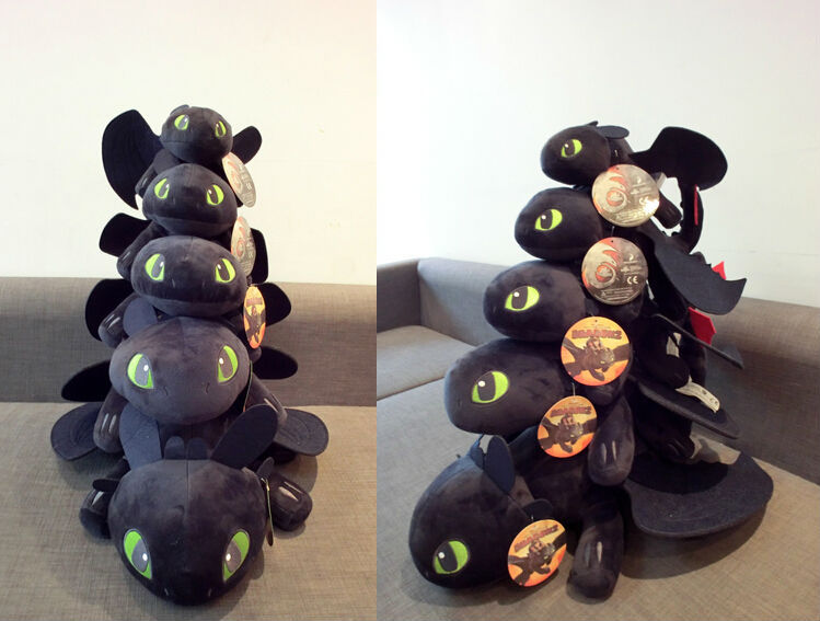 58cm night fury plush toy how to train your dragon 2 toothless 7 8 3 4 5 6 1 ccuart Images