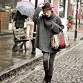 [CHICEVER] Зима Длинным Рукавом Высокого Цвета Свободные Большой Размер Пуловеры Вязание Свитера Dress Женщины Новая Мода Одежда
