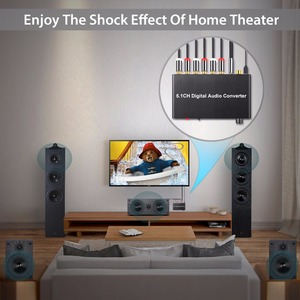 Image 4 - Décodeur Neoteck 192kHz DAC 5.1CH décodeur Audio numérique prise en charge AC 3/DTS optique Coaxial à 6 RCA 3.5mm Jack adaptateur Audio