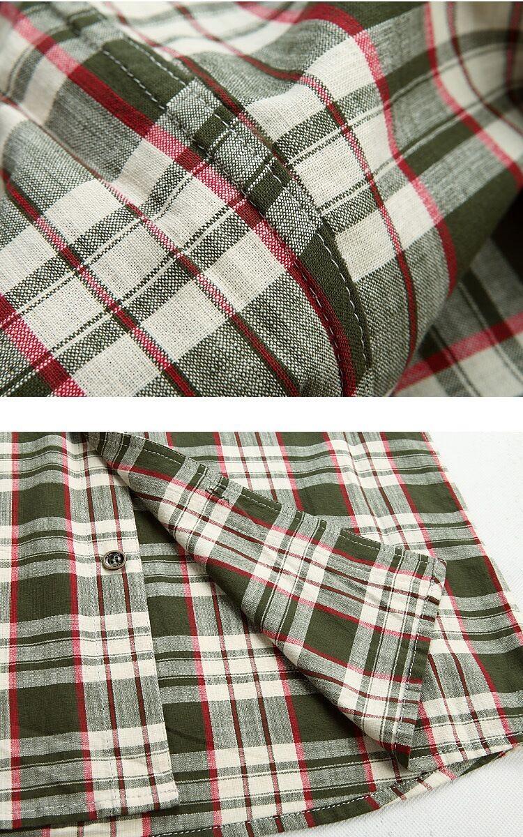 3XL 4XL 5XL 2015 Summer Plaid Men Cotton Short Sleeve Dress Shirts Camisa Hombre Patchwork Blouse Vestido Men Clothes Casual (7)