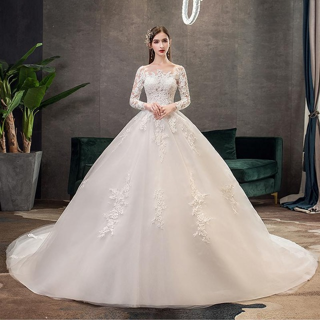 Mrs Win Full Sleeve Wedding Dresses