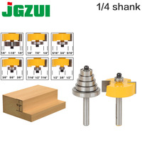 """Rabbet Router Bit with 6 Bearings Set  1/2""""H   1/4"""" Shank Woodworking cutter Tenon Cutter for Woodworking Tools router bit tenon cutterwoodworking cutter -"""