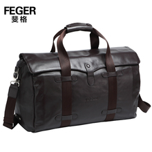 2014 New Feger brand genuine cowhide leather men's travel bags real cow leather travelling bag  high quality handbags,TCF963