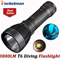 3800 Lumens Diving flashlight led diving light cree xml t6 buceo dive torch Underwater flash light lanterna by 18650 or 26650