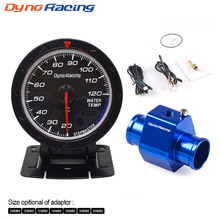 Free shipping CNSPEED 60MM Car Water Temperature Gauge+Water Temp Joint Pipe Sensor Adapter
